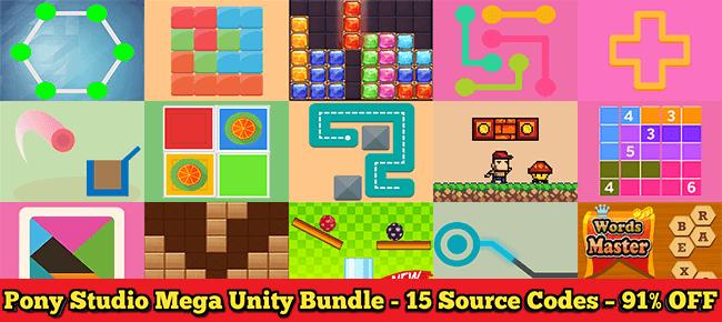 Pony Studio MEGA Unity Bundle - 15 Source Codes worth $1525 – 91% OFF NOW!  - Sell My App