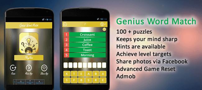 Buy Genius Word Match Game app source code - Sell My App