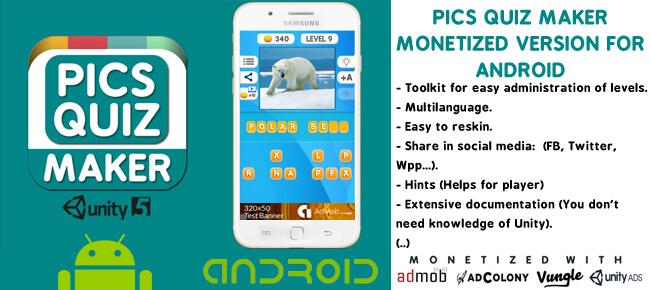 Buy Pics Quiz Maker app source code - Sell My App