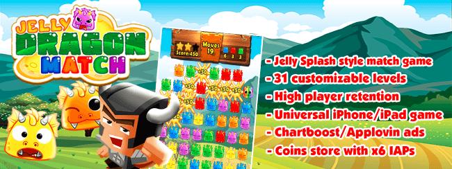 Jelly Dragon Pop – Castle Blitz Match 3 Puzzle Game