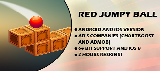😋 Jump Red Ball – New Top-Chart Trend Jump Ball Clone – IOS and Android Versions – 2 hours reskin only!!! 😋