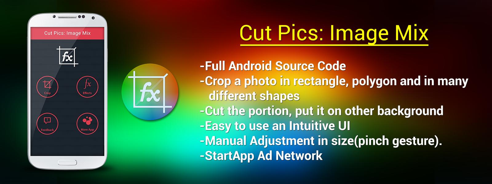Buy Cut Pics : Image Mix app source code - Sell My App