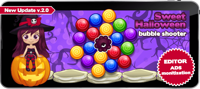 Sweet Halloween Bubble Shooter – bubble match 3 game