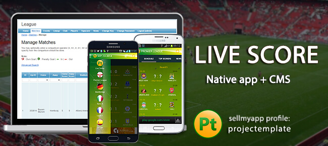 Buy Live-score Football Android App Source Code