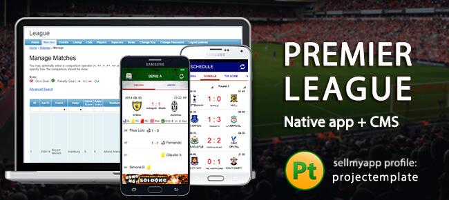 Buy Live-Score Premier League app source code - Sell My App