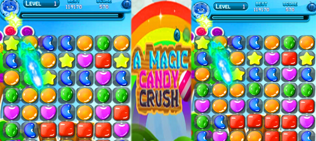 Match Three A Magic Candy Crush Full