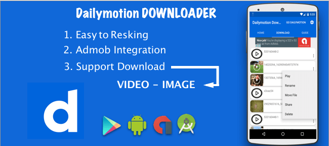 Buy Dailymotion Video downloader source code - Sell My App