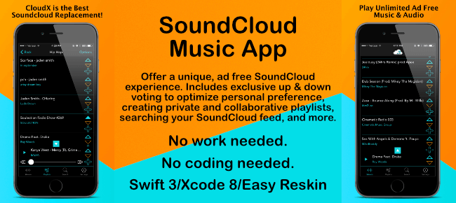 Buy CloudX Music player App source code - Sell My App
