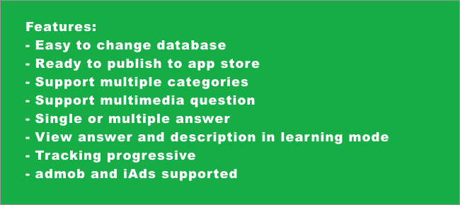 Multiple Choices Learning app