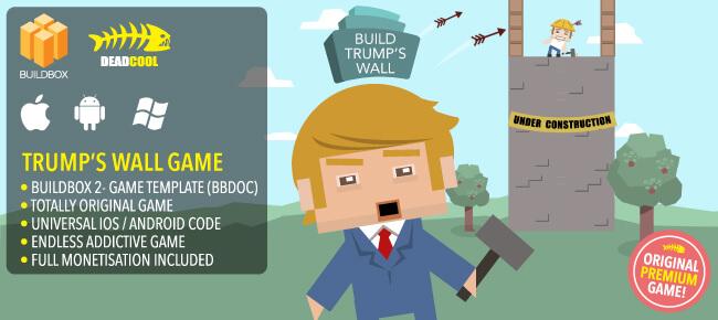 Buy Trump's Wall Buildbox App source code - Sell My App