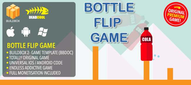 Buy Bottle Flip - BuildBox 2 Game source code - Sell My App