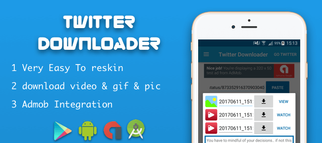Buy twitter downloader video gif image sell my app twitter downloader video gif image ccuart Images