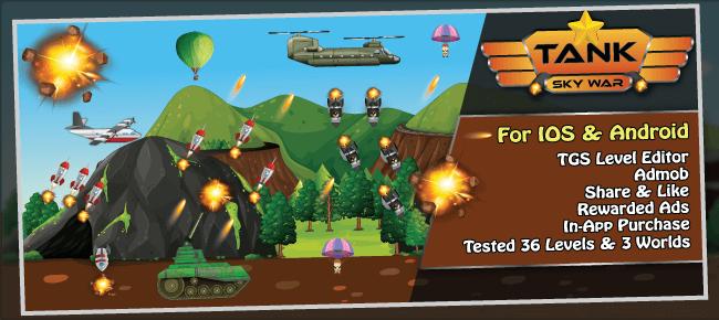 Tank Sky War + Level Editor