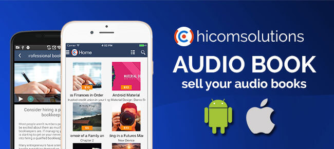E-Audio bookstore: sell your audio books (Android)