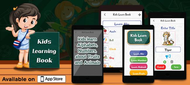 Pre School Learning App – An Intuitive Educational App