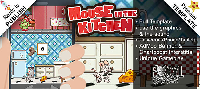 Mouse in the Kitchen – Buildbox Game Template