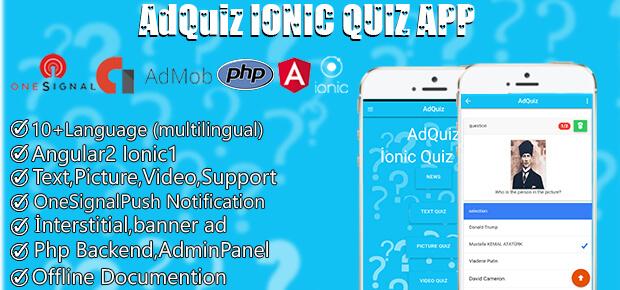 Adquiz -Ionıc multilingual Quiz App