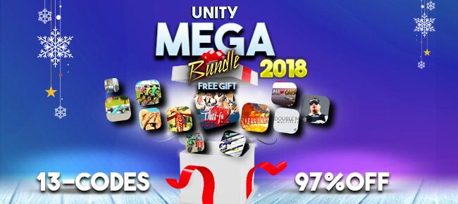 2018 Mega Unity 3D Bundle – 13 codes worth $5,017 USD – 97% OFF!