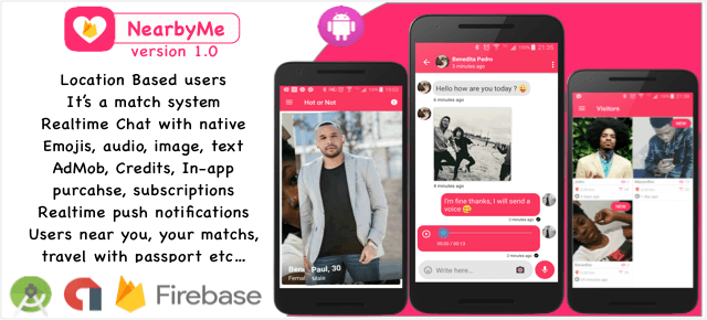 Buy NearbyMe- powerful dating App source code - Sell My App