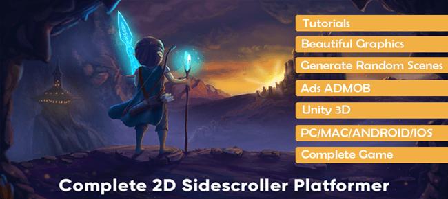 Complete 2D Sidescroller Platformer