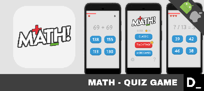 Math! – Quiz Game / Mobile Ready
