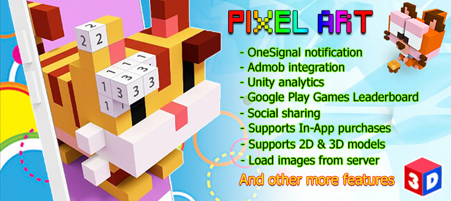 Pixel Art – Number Coloring 3D + 2D + Full Monetization features.