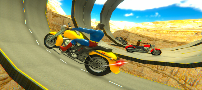 Superhero Trails Bike Stunt Driver
