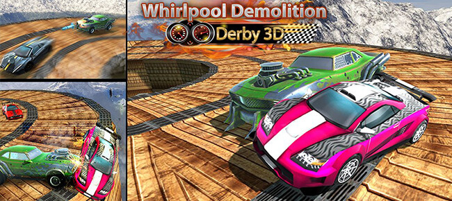 Whirlpool Demolition Derby 3D – Car Fighting