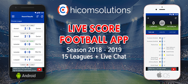 Live Score Football App Season 2018-2019 for Android