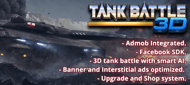 Tank Battle 3D – Unity – Full working source code