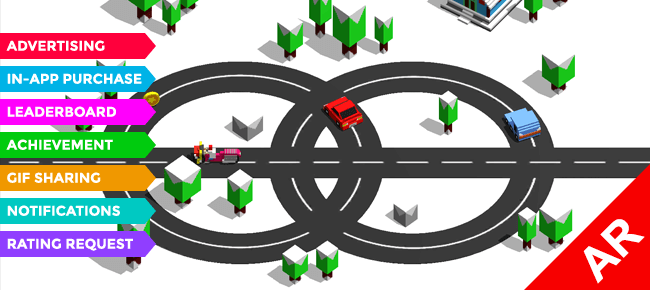 Circle Crash: AR Car Driving Game