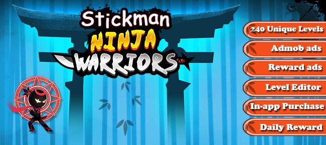 Stickman Ninja – Shuriken Throwing Puzzle Game – Unity 2018