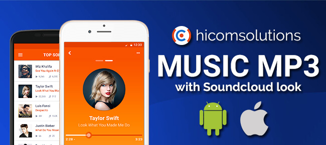 Music App with Soundcloud Look iOS App