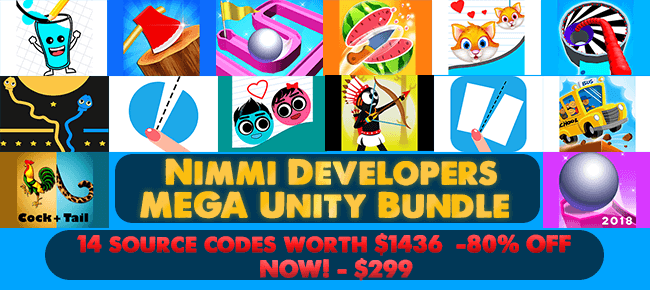 Nimmi Developers MEGA Unity Bundle - 14 source codes worth $1436 -80% OFF  NOW! - Sell My App