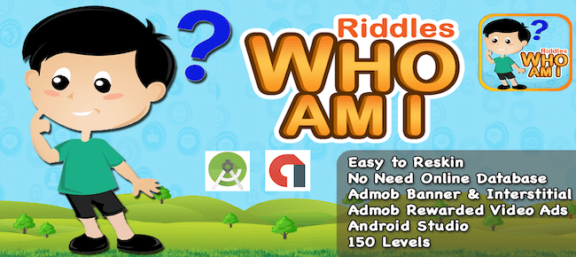 Riddle Who Am I? + Best Kids Quiz App + Ready For Publish