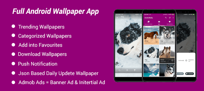 Androwally | Complete Android Wallpaper App with Google Material Design
