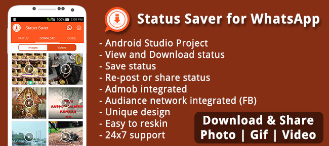 Buy Statussaver For Whatsapp Source Code Sell My App