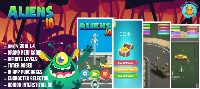 Aliens.io | Brand New Game | IO Games Trending !!