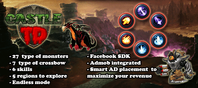 Castle TD – Tower Defense game – Full working source code
