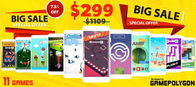GamePolygon Mega Unity Bundle - 11 Games worth $1109 - 73% OFF - Sell My App