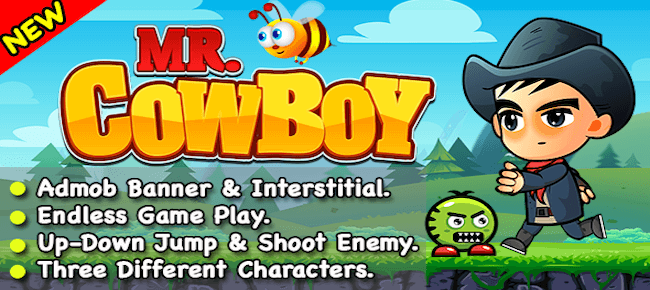 Mr CowBoy – Endless Game For Android