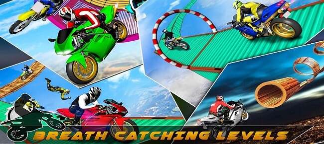 Impossible Stunts Bike Racing : 3D Motorcycle Stunts