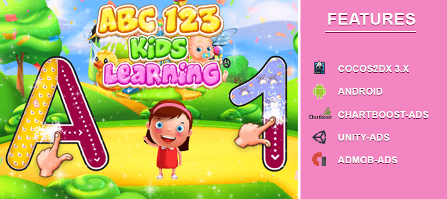 Abc 123 Tracing Learning game[Android]