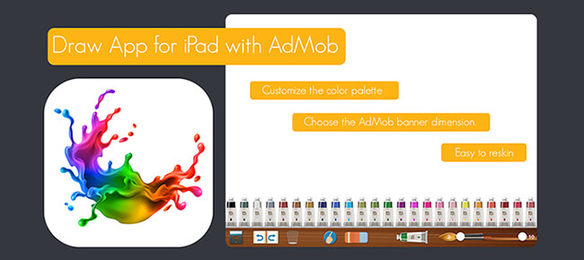 Draw iPad Universal with AdMob banner