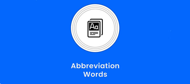 Abbreviation Words Dictionary