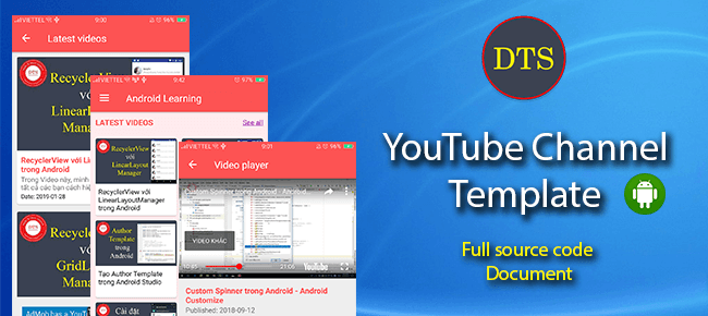 YouTube Channel Android App Template