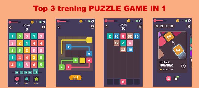 Puzzle Box : 3 games in 1