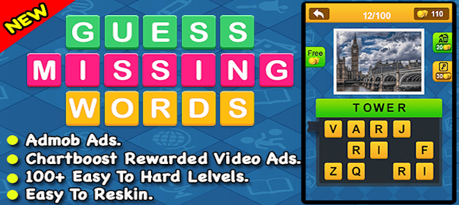 Guess Missing Word + Best IOS Word Puzzle Game
