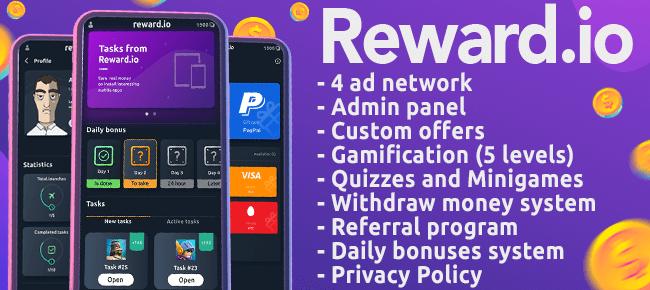 Buy Reward io Android App source code - Sell My App