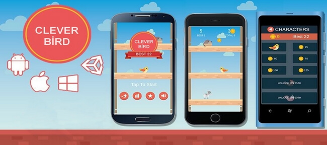 Clever Bird – Unity 3D – Android & İOS